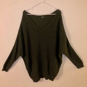Charlotte Russe Womens XL Olive Scoop Neck Sweater